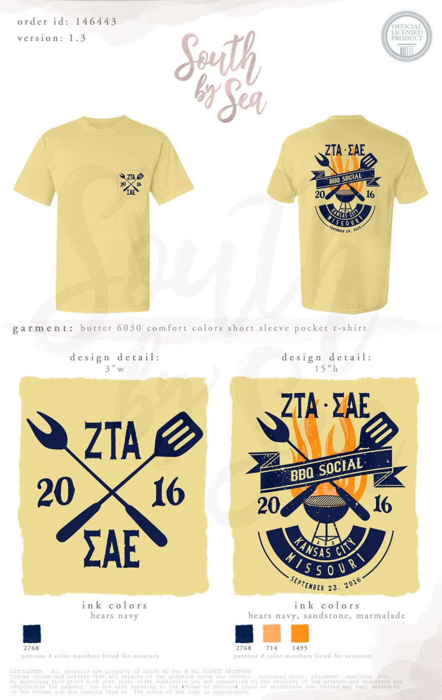 83564d3f Sorority Shirts · Zeta Tau Alpha | ZTA | Sigma Alpha Epsilon | SAE |  Barbecue Theme | BBQ