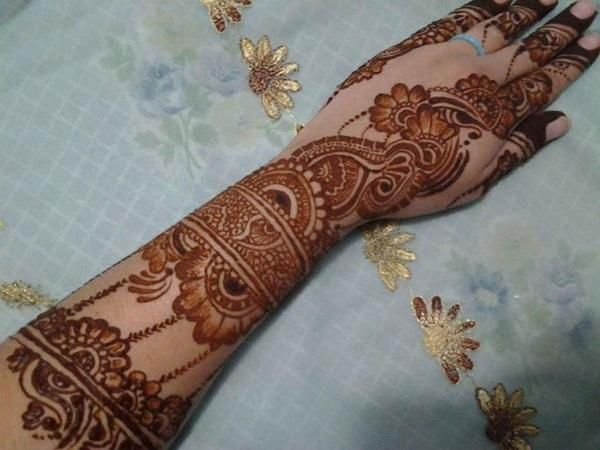Easy Bridal Mehndi Patterns : Easy bridal mehndi design for hands fashi