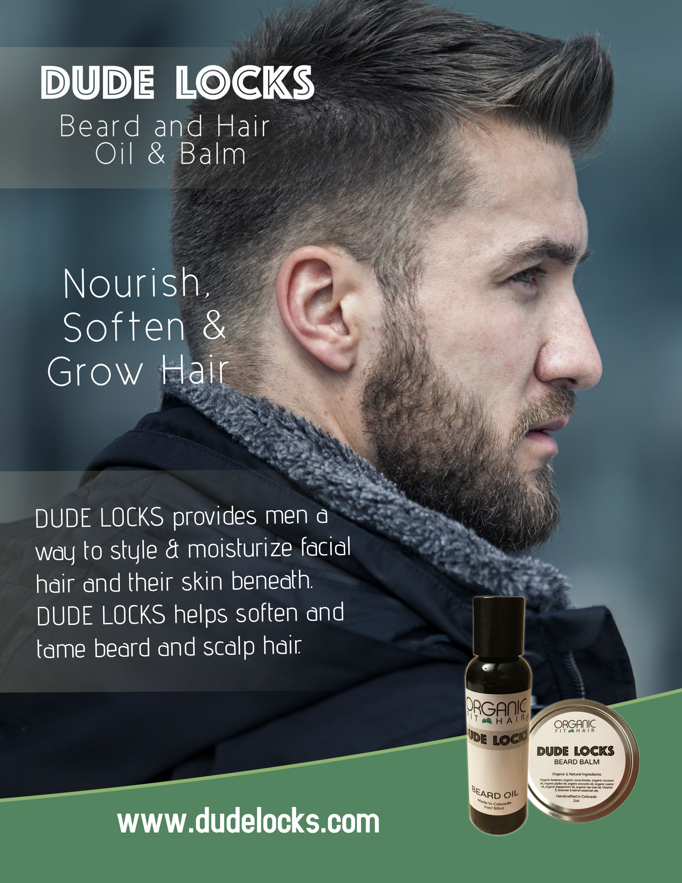 Nourish soften grow groom your beard and hair beard