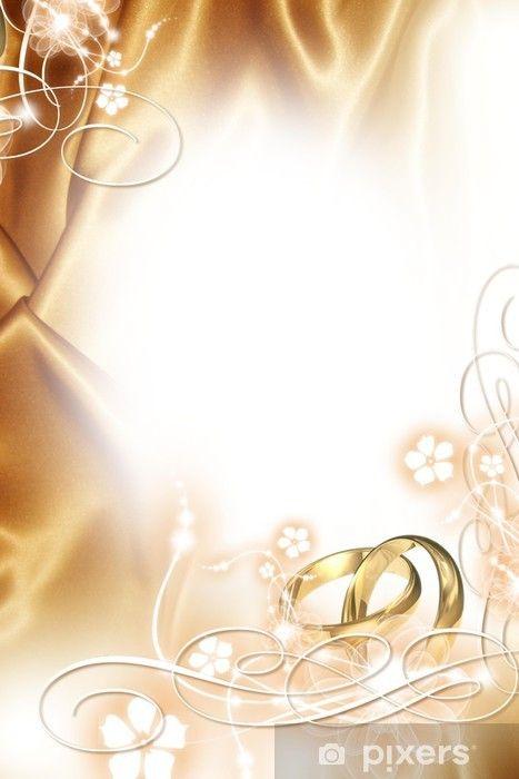 Aufkleber Hochzeits-Hintergrund - Goldene Hochzeit