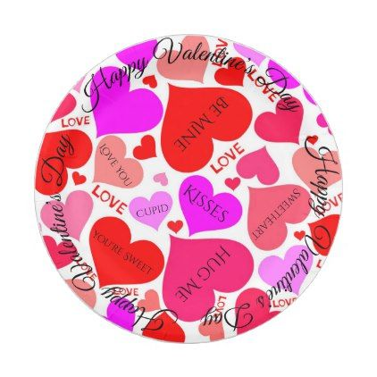 sc 1 st  Pinterest & Happy Valentine\u0027s Day Candy Hearts Paper Plates