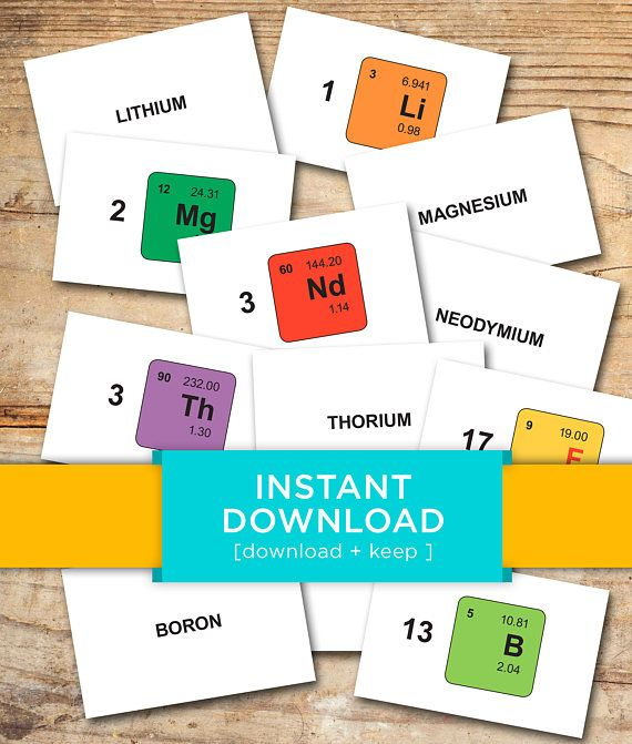 graphic about Periodic Table Flash Cards Printable identified as Obtain Periodic Desk Flash Playing cards - Printable, Flashcards