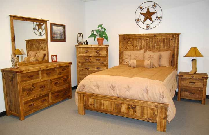 Reclaimed Natural Bedroom Set 5 Piece Bed Dresser Chest Night Stand Wood Bedroom Sets Rustic Bedroom Sets Bedroom Furniture Sets Bedroom set natural wood