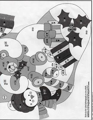 Como hacer Manualidades para Navidad Patron bota de Navidad Muñeco