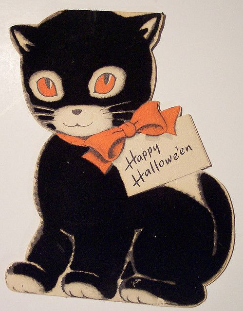 explore vintage halloween cards vintage holiday and more - What To Say In A Halloween Card