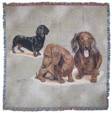 Dachshund Puppies Throw