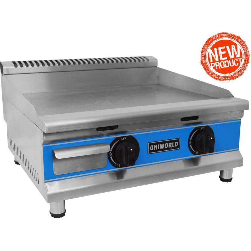 Commercial Kitchen Countertop Economy Gas Griddle 24 Gas