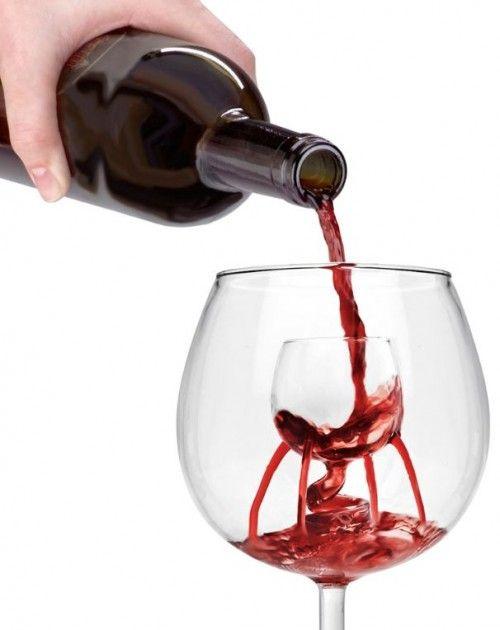 Self Aerating Wine Glass Wineglass Within A Wineglass Wine