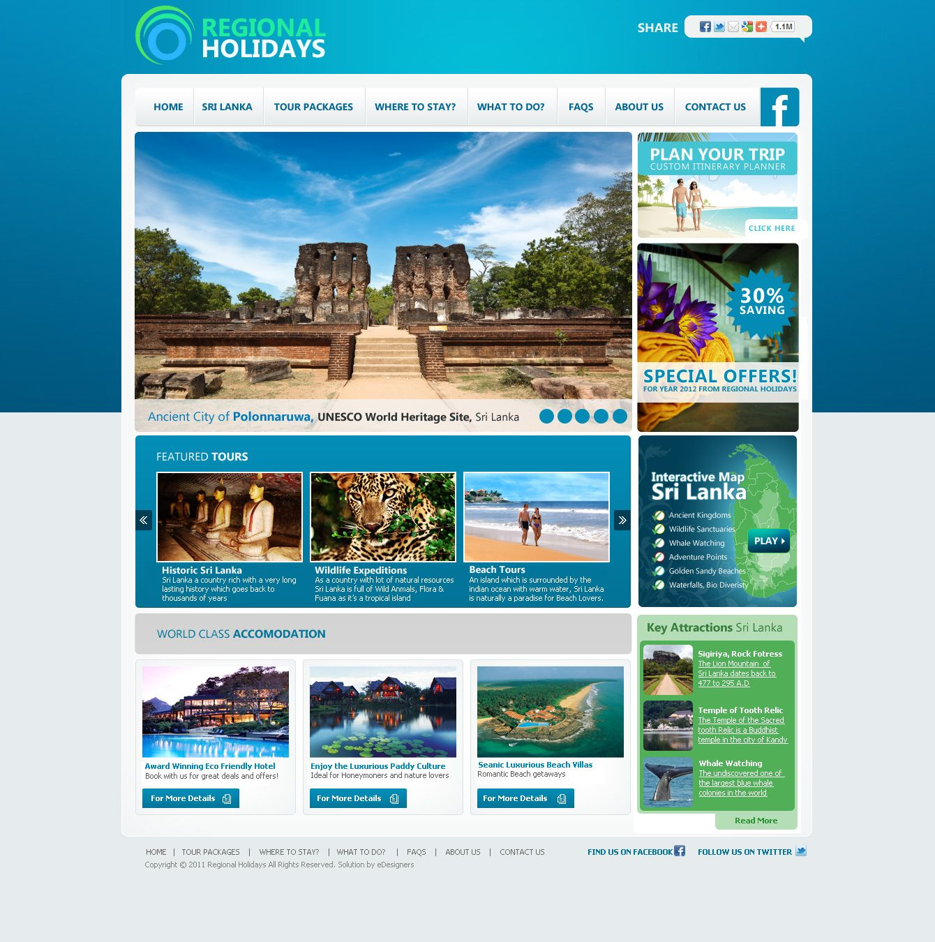 Proposed Design Template For Regional Holidays By Edesigners