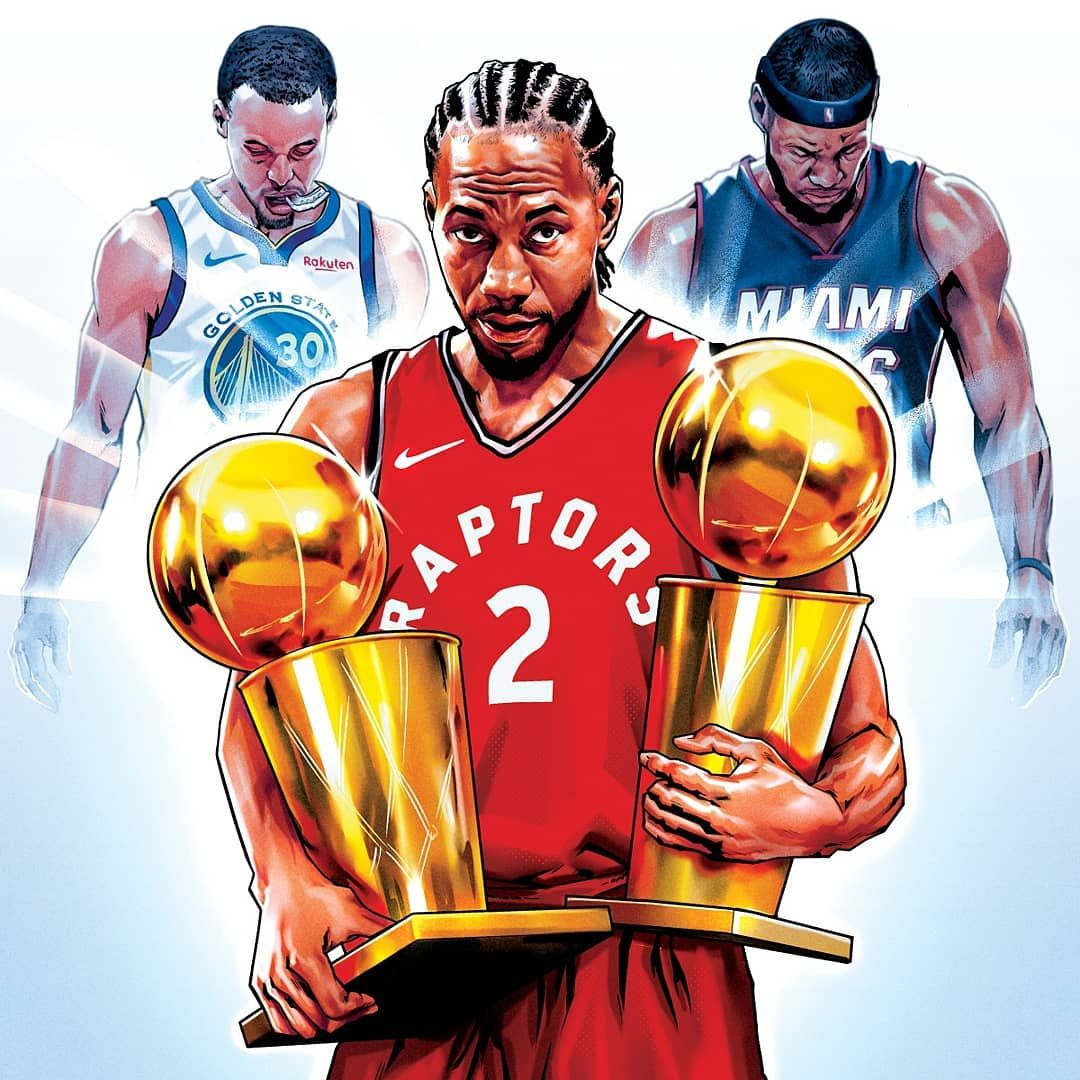 Check Out My Latest Illustration With Basketballforever What A Game Kawhi Leonard Is The Dynasty Ender He Has Sto Basketball Pictures Nba Art Miami Heat
