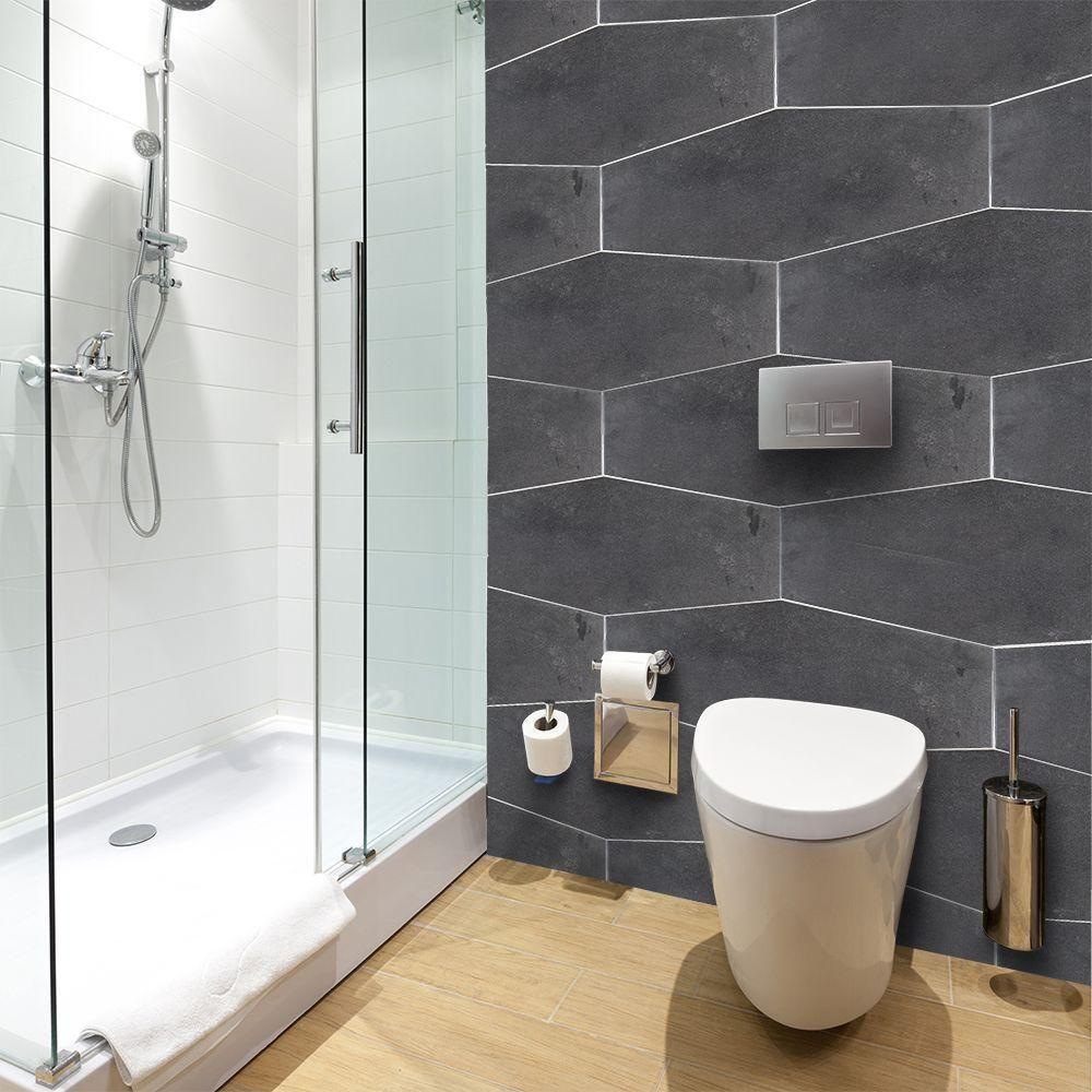 Jeffrey Court Castle Rock 9 1 2 In X 19 4 8 5 Mm Porcelain Hexagon Floor And Wall Tile 12 15 Sq Ft Case