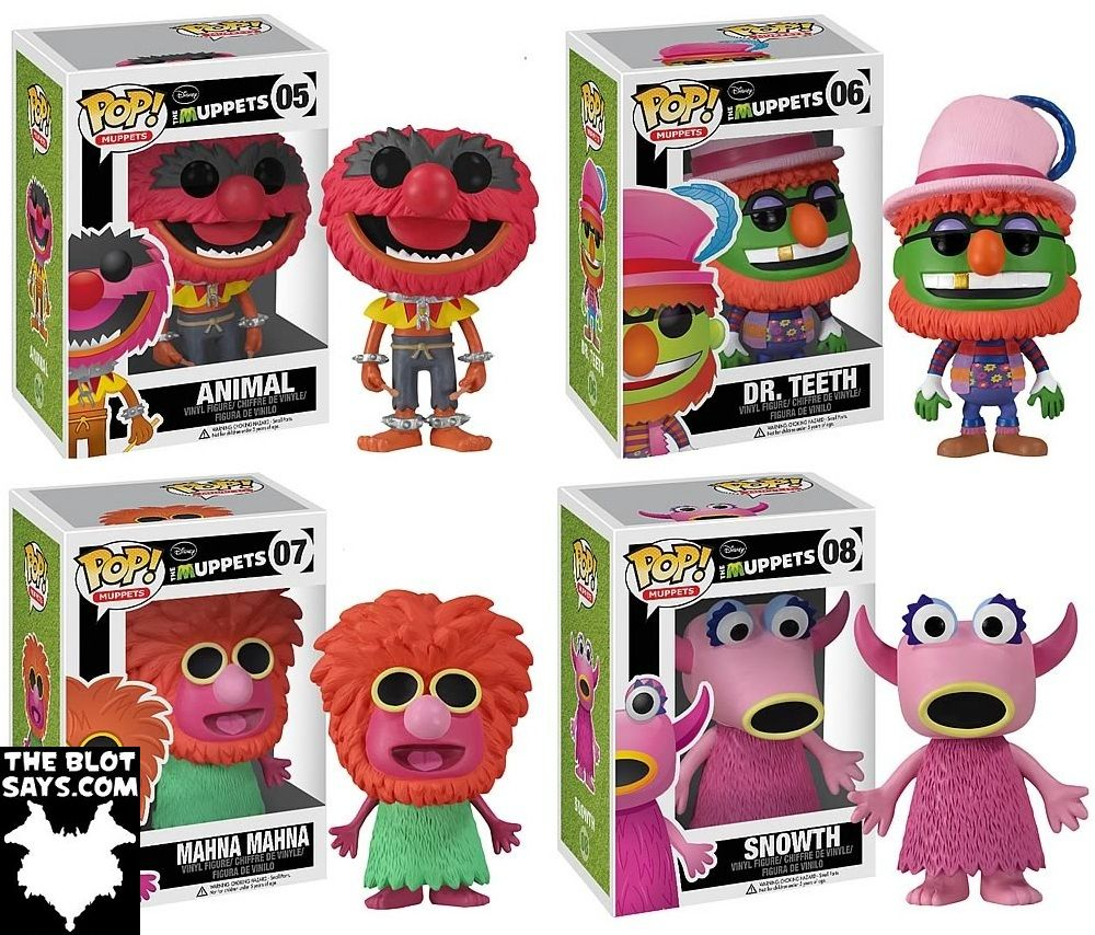 Funko Pop! Muppets Animal, Dr. Teeth, Mahna Mahna
