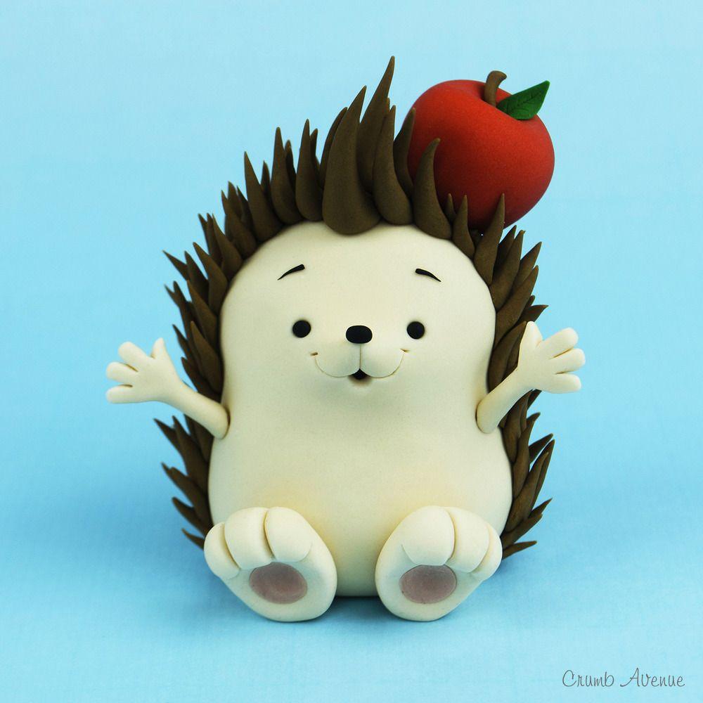 Kawaii Hedgehog Fondant / Polymer Clay Tutorial