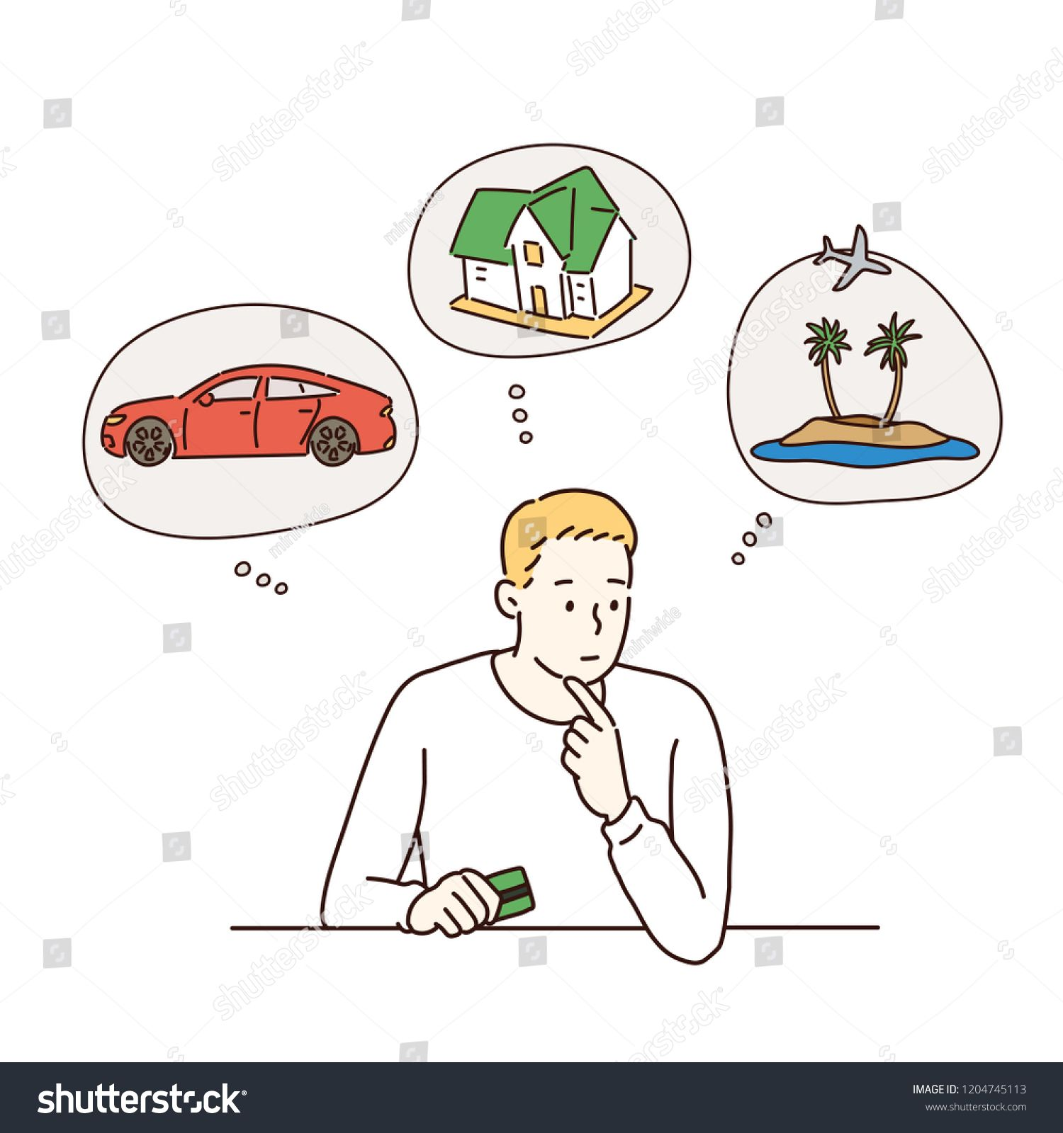 A man is in trouble to decide what to do. hand drawn style vector design illustrations. #Ad , #ad, #decide#hand#man#trouble