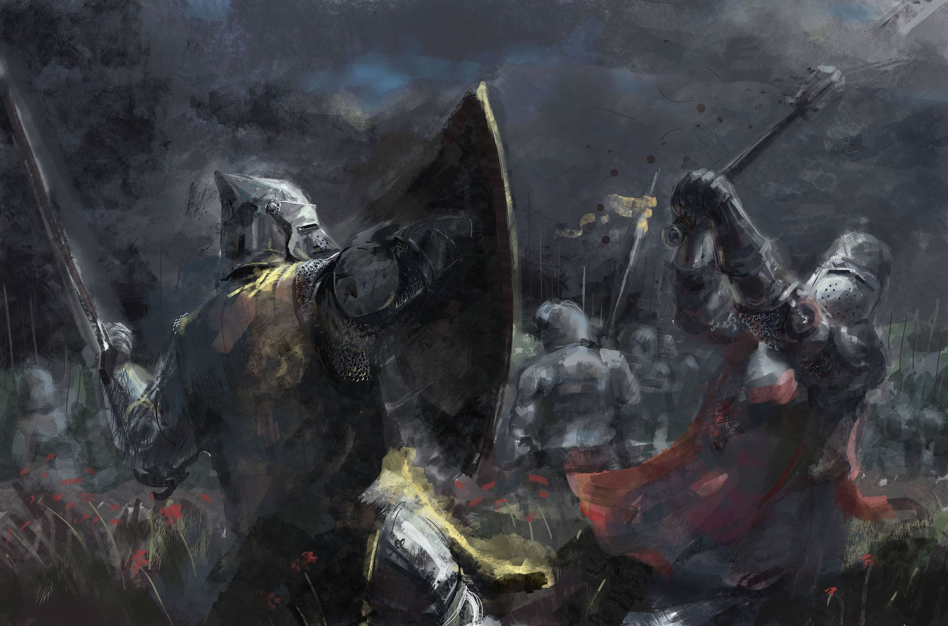 the chaos that is a medieval battle art by ivan koltovich
