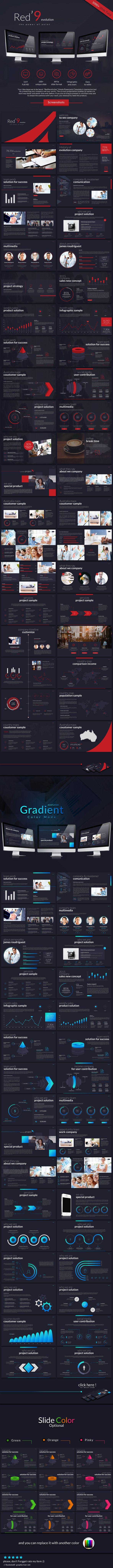 Red'9evolution powerpoint Template Presentation Template #design #slides Download: http://graphicriver.net/item/red9evolution-powerpoint/11447576?ref=ksioks