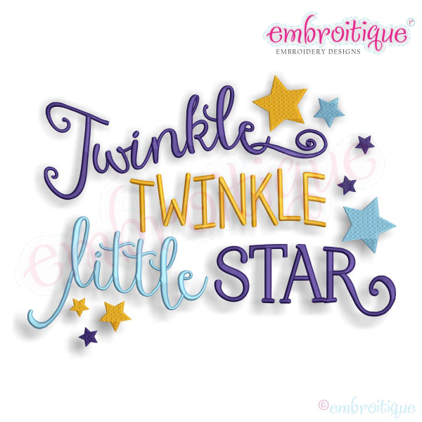 Home By Year Created 2016 Twinkle Twinkle Little Star Baby Nursery Machine Embroidery Design Twinkle Twinkle Little Star Machine Embroidery Designs Embroidery Designs