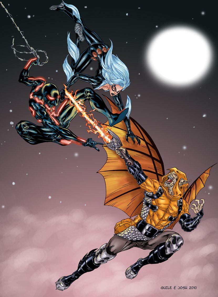 Spiderman & Black Cat vs Hobgoblin by Guile Sharp