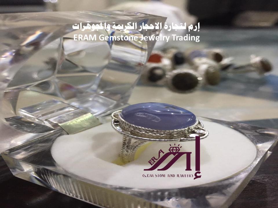 خاتم نسائي عقيق يمني ازرق سماوي طبيعي 100 Agate Gemstone Jewelry Gemstones Bracelet Watch