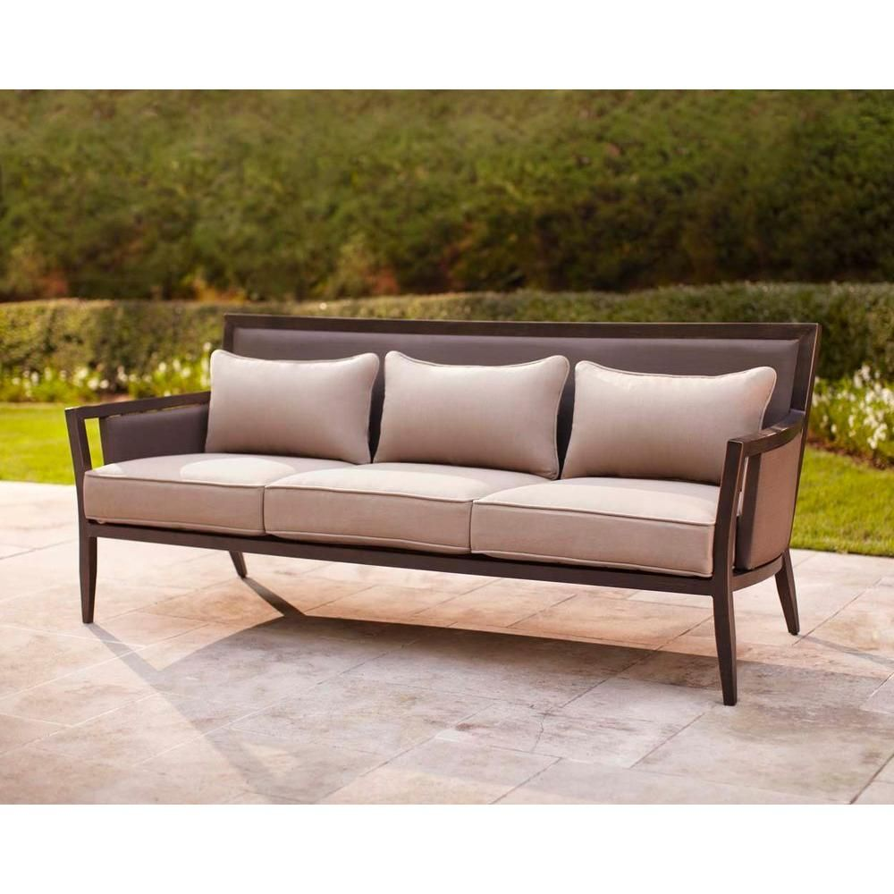 Brown Jordan Greystone Patio Sofa In Sparrow Stock Dyt005 S The Home Depot