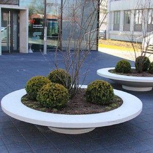 Adezz Garden Planter Polymer Concrete Besso Circular Seat Lawn And Garden Planters Tree Planters