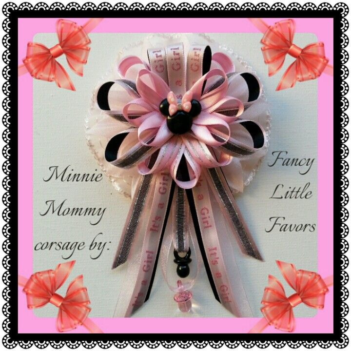 Minnie Mouse Baby Shower Mommy Corsage By Fancy Little Favors. Follow Us On  Facebook To