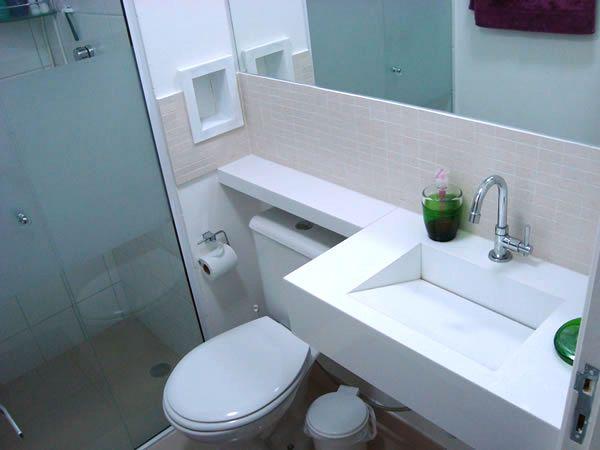 Lavatório Em Branco Prime Decoração Banheiro Banheiro