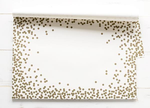 Gold Confetti Paper Placemats Nest Interior Design Placemats Gold Confetti Dinner Table Set Up