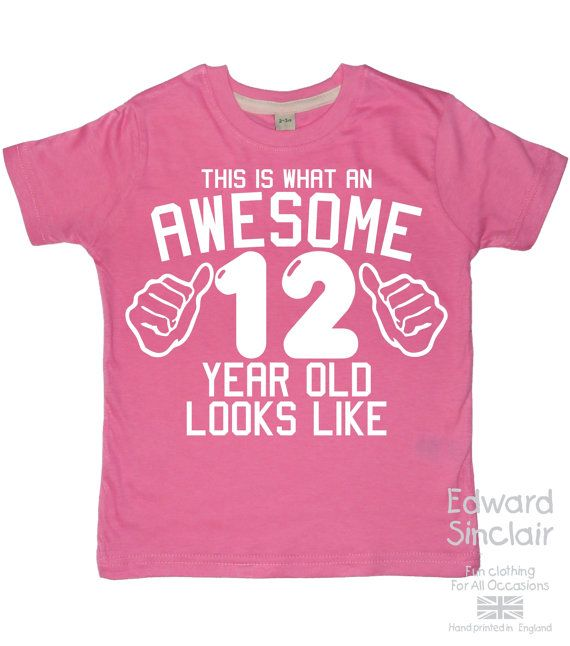 Awesome 12 Yr Old T Shirt Best Gifts For Year Girls