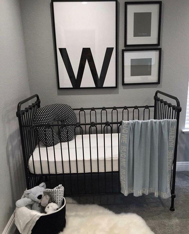 Simply Wonderful Black Crib Nursery Grey Boy