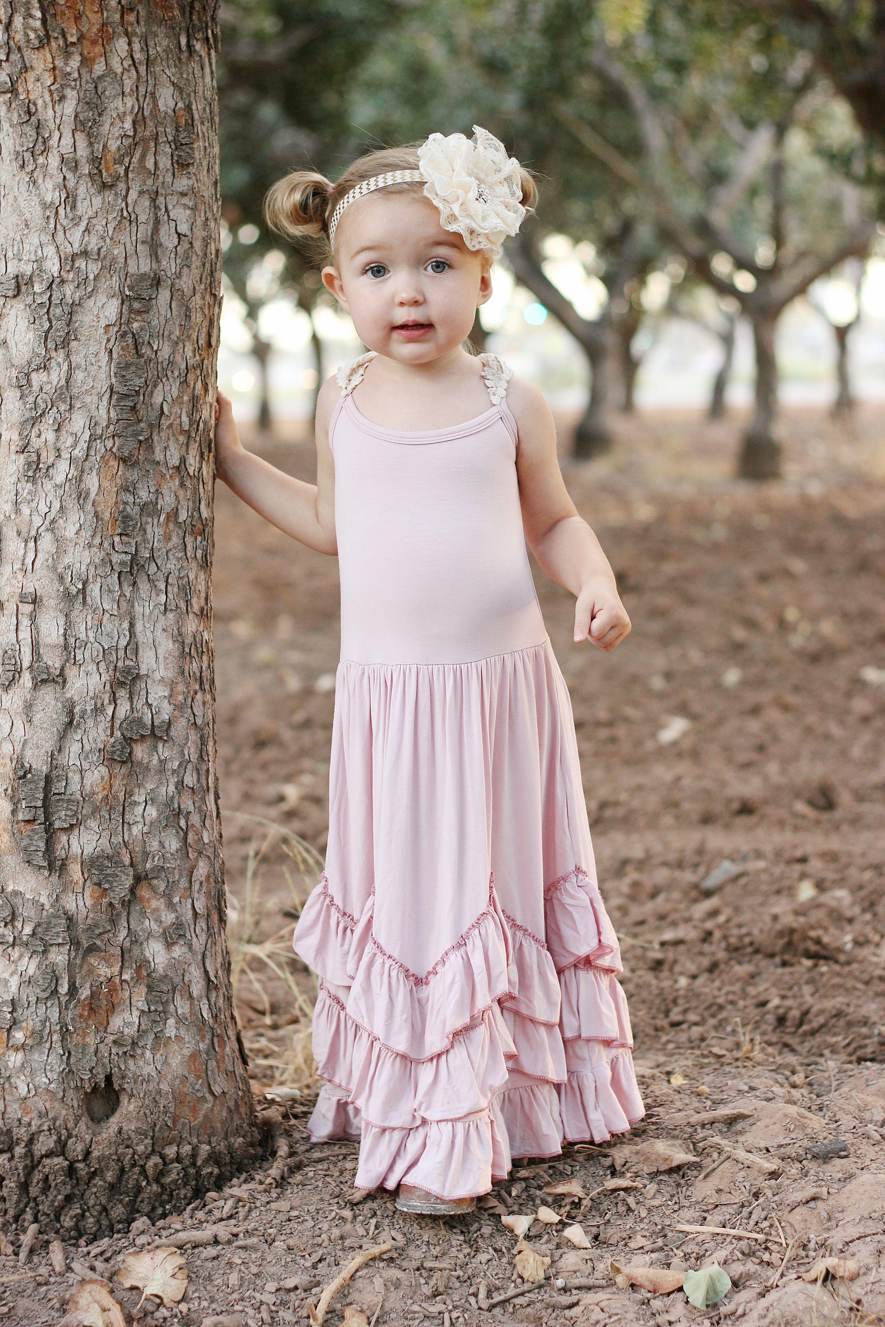 5b6d43e071333 Boho Toddler Dress - Blush Toddler Dress - Flower Girl Dress - Rustic  Flower Girl - Boho Flower Girl