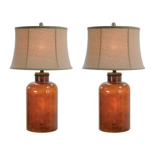 Found it at wayfair gouaro glass 29 table lamps set of 2