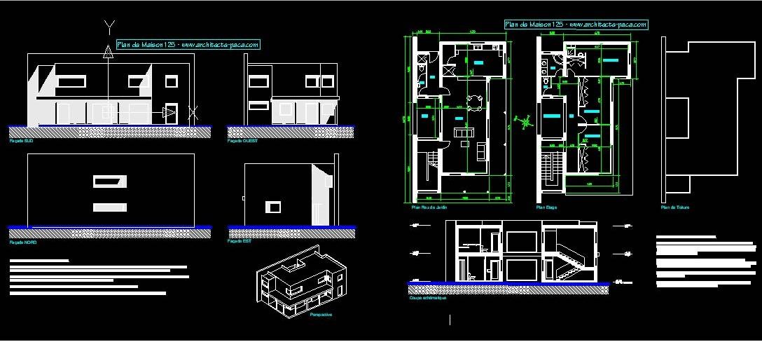 Plans De La Maison Autocad Dwg 13
