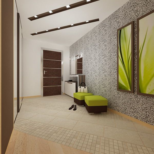 Hall Way Wall Interior Ideas In Modern Apartment