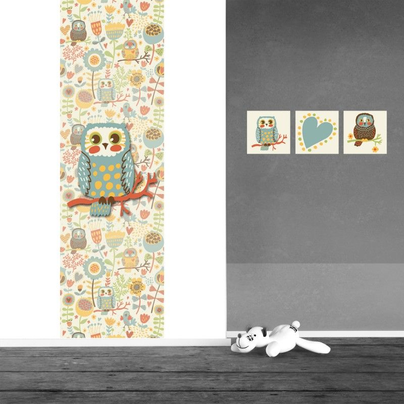 muursticker babykamer uil vintage 75 x260 cm - babykamer idee, Deco ideeën