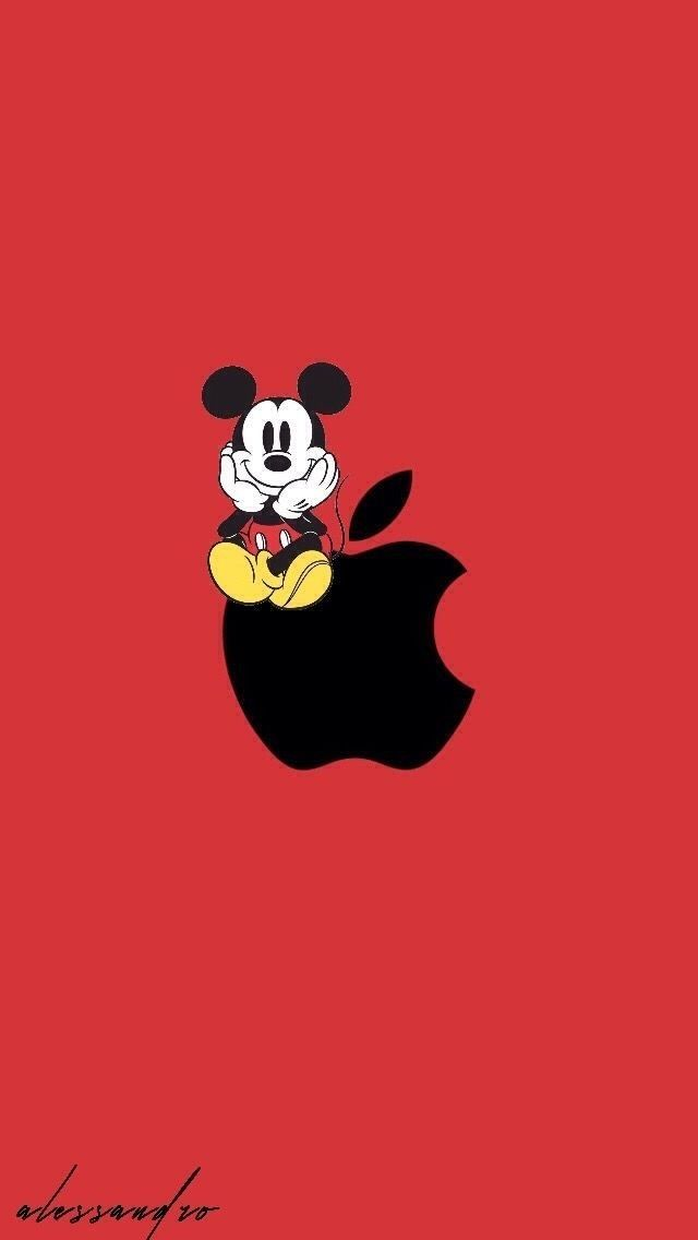 Pin by Sara Deict on Apple wallpaper iphone Mickey mouse
