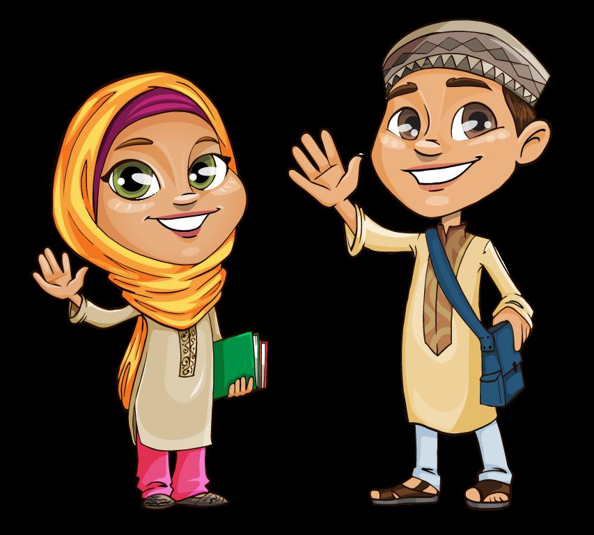 Http Www Clipartlord Com Wp Content Uploads 2016 01 Muslim Kids Png Islamic Cartoon Cartoon People Cartoon