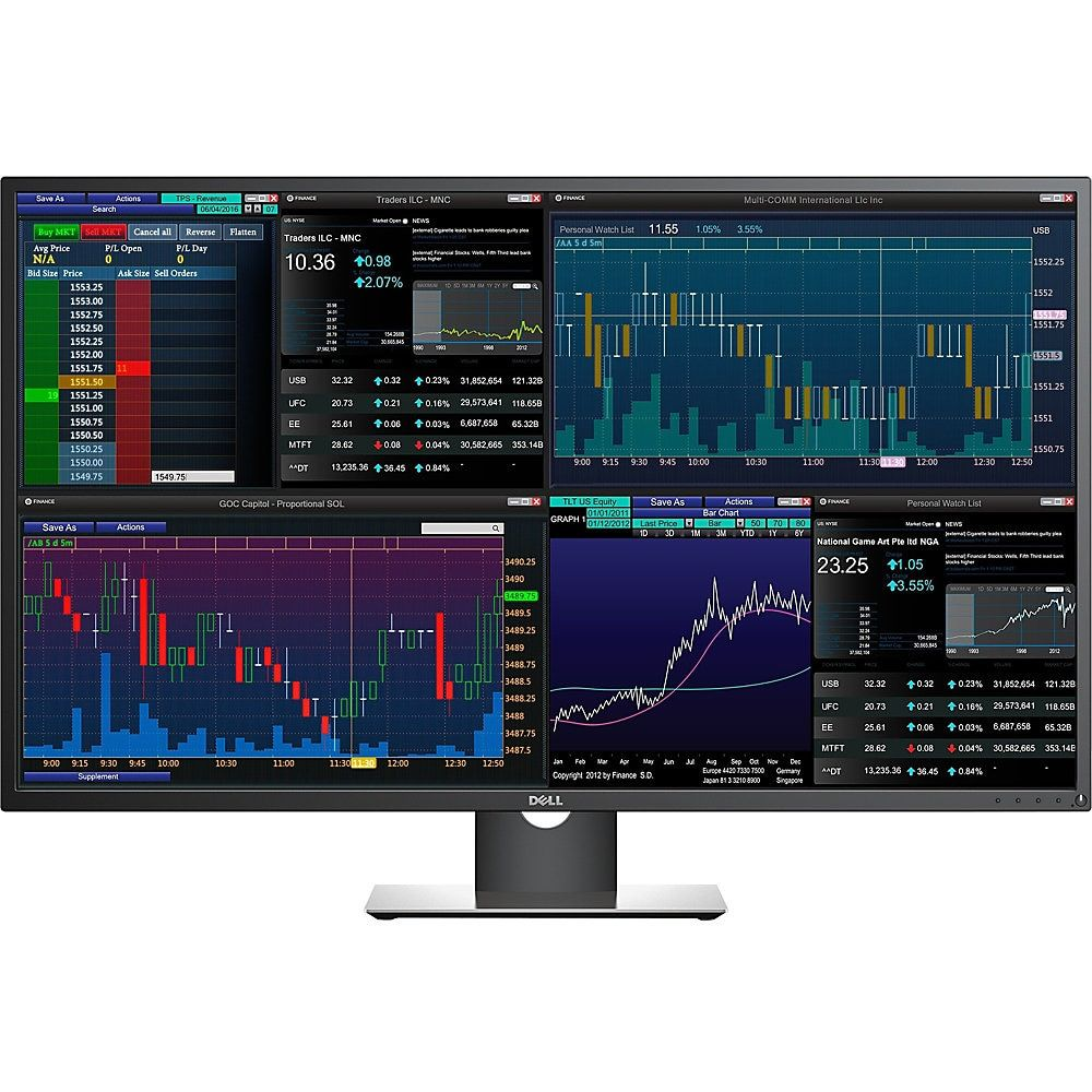 Dell P4317q 43 4k Uhd Edge Led Lcd Monitor 16 9 Black In