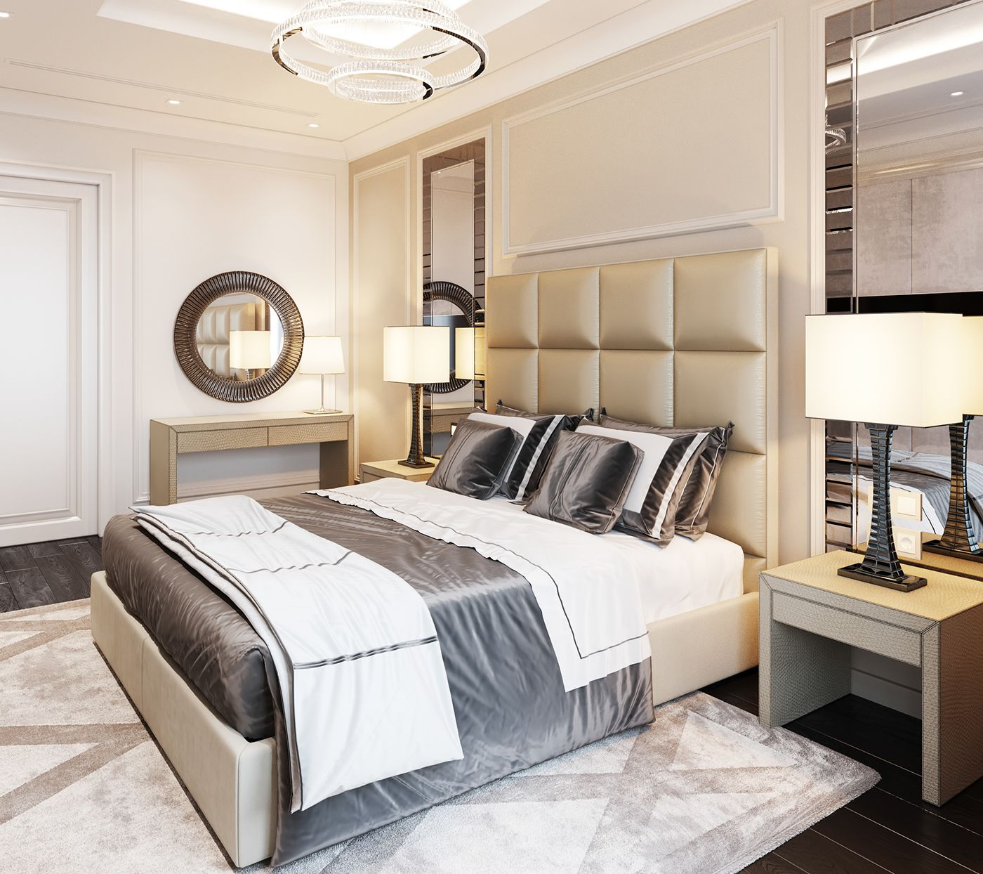 Bedroom In Contemporary Style On Behance: Interior Architecture Design