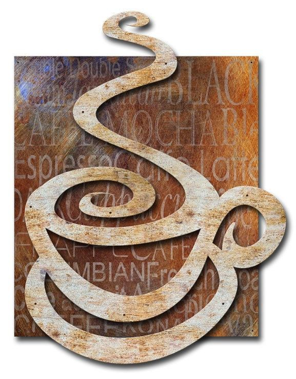 Metal Sign Wall Decor Stunning Coffee Cup 3D 47 X 35 Inch Metal Art Sign Wall Decor American Inspiration