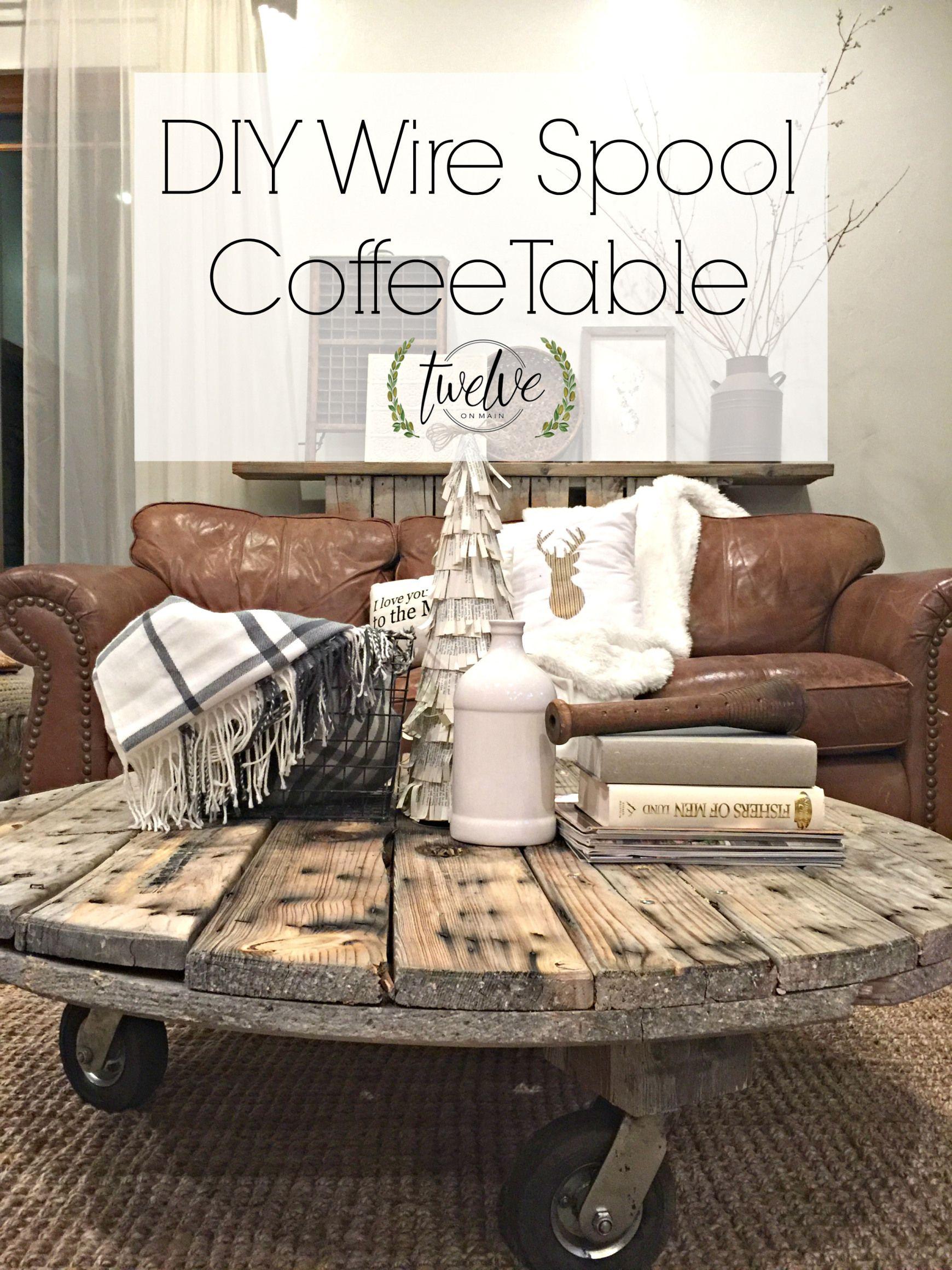 diy wire spool coffee table spool