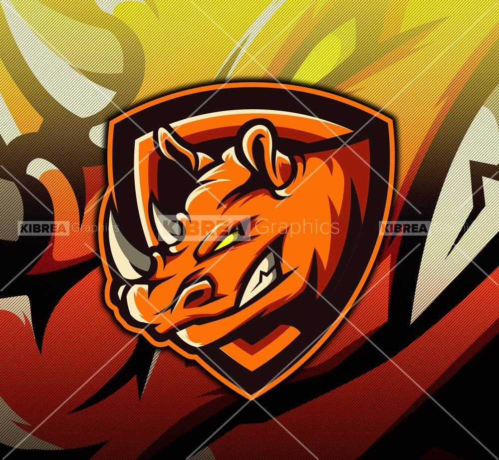 Rhinos Mascot logo | KibreaGraphics | Esports logo, Logos