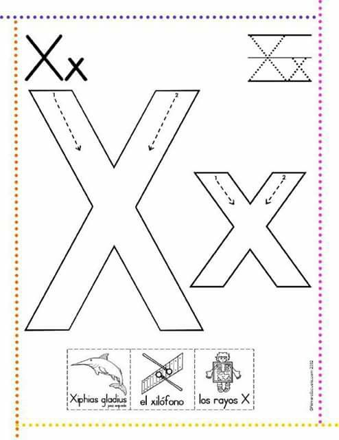 Letra X Escrita Pré Escolar Letras Pré Escolar Ensinando Letras