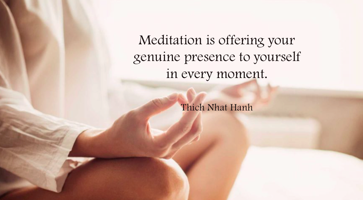 Meditation is offering ...