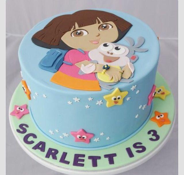 Bolo dora aventureira Dora Explorer Party Pinterest Cake Dora