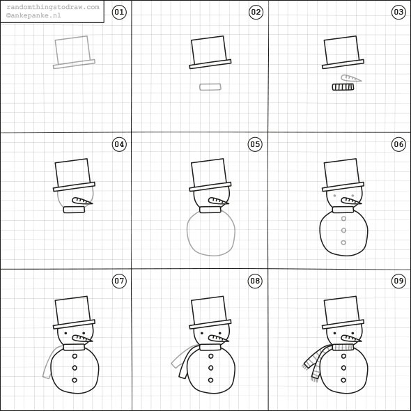 Learn To Draw Comics Drawing On Demand Draw A Snowman Easy Drawings For Kids Easy Drawings