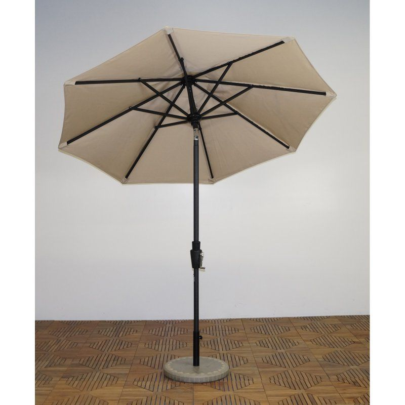Shade Trends 7.5 ft. Premium Market Umbrella - Licorice Frame Antique Beige - UM75-LI-106