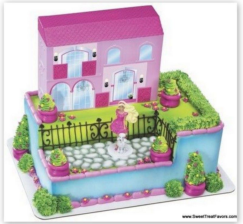 Details About Barbie Dream House Cake Topper Decoration