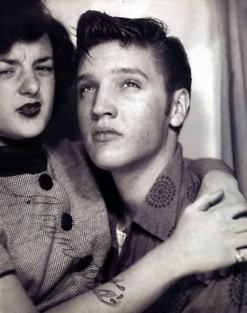 Elvis Presley & Friend in a Photo booth, 1950s. @Lawrene Bova I think you can photo shop yourself in...