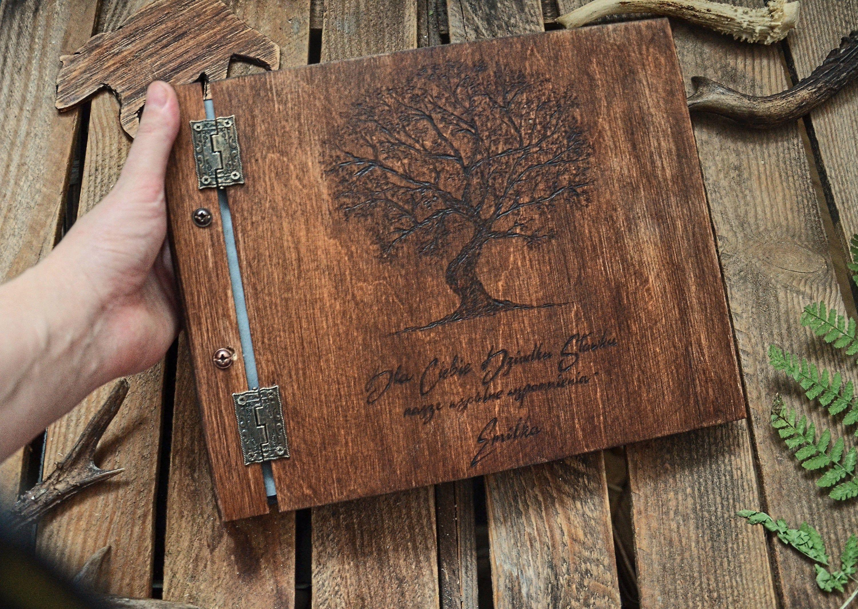 Album Na Zdjecia Z Drzewem Album Fotograficzny Drewniany Album